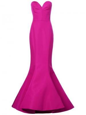 Вечернее платье Christian Siriano. Цвет: розовый и фиолетовый