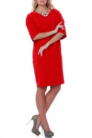 Платье Кливия LESYA. Цвет: красный