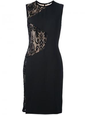 Платье с кружевными вставками Emanuel Ungaro. Цвет: чёрный