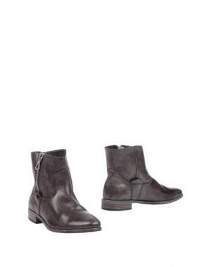 Полусапоги и высокие ботинки CRIME London. Цвет: темно-коричневый