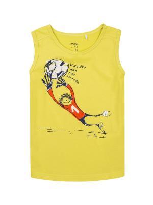 Майка спортивная Endo. Цвет: желтый