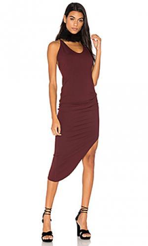 Платье с перекрестными шлейками сзади twenty. Цвет: красный