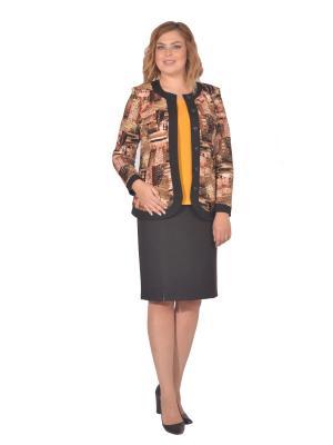 Жакет Томилочка Мода ТМ. Цвет: черный, коричневый, светло-коричневый