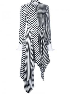 Платье в полоску Monse. Цвет: чёрный