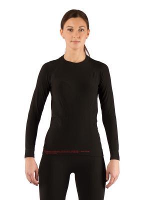 Термофутболка женская Lasting Atala, черная. Цвет: черный