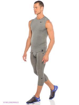 Тайтсы COOL 3/4 TGT Nike. Цвет: серый