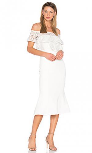 Расклешенное мини платье farina Rebecca Vallance. Цвет: белый