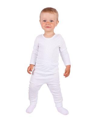 Комплект одежды Апрель. Цвет: голубой, молочный
