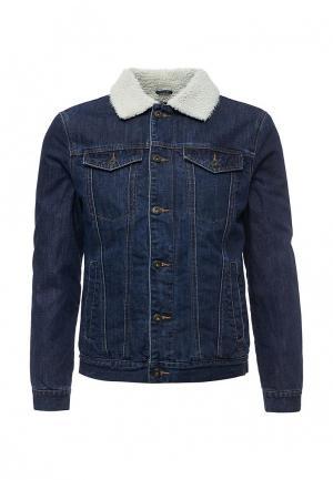 Куртка джинсовая Solid. Цвет: синий
