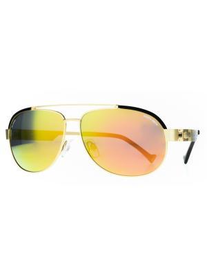 Солнцезащитные очки Dakota Smith. Цвет: золотистый