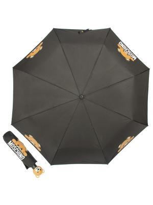 Зонт складной Moschino 8194-OCA Hidden Teddy Black. Цвет: черный