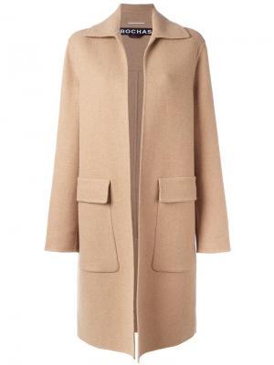 Пальто с карманами клапанами Rochas. Цвет: телесный