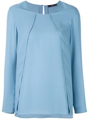 Блузка с панельным дизайном Steffen Schraut. Цвет: синий