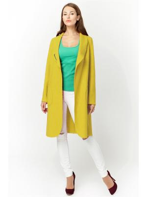 Пальто GiuliaRossi. Цвет: желтый