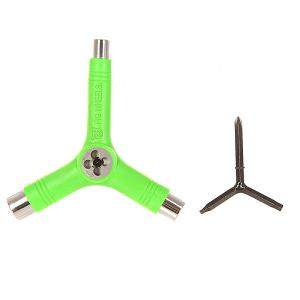Ключ для скейтборда  Tool Green Pig. Цвет: зеленый