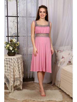 Ночная сорочка Аврора Vilana. Цвет: розовый