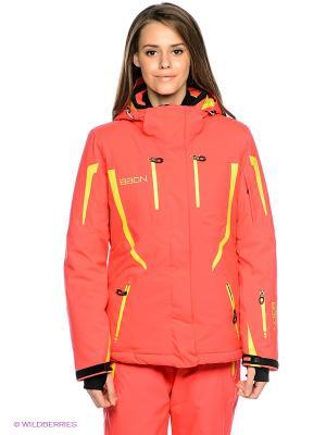 Куртка Baon. Цвет: коралловый, желтый