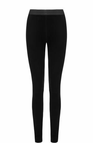 Замшевые брюки-скинни DROMe. Цвет: черный