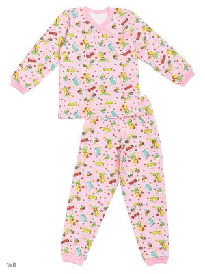 Пижамы KIDONLY. Цвет: розовый, желтый
