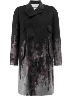 Пальто с принтом Rochas. Цвет: чёрный