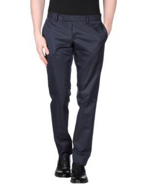 Повседневные брюки DAVID NAMAN. Цвет: темно-синий