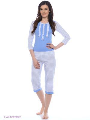 Комплект одежды Milana Style. Цвет: голубой