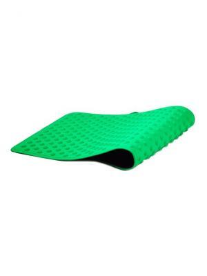 И1315 Коврик для йоги и массажа активации биологически активных точек зон SilverStep. Цвет: зеленый