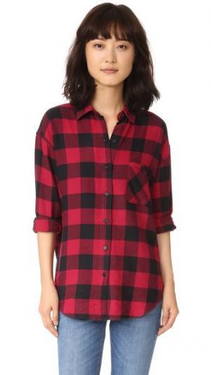 Рубашка с пуговицами Jackson RAILS. Цвет: красно-черная клетка