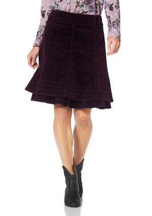 Вельветовая юбка CHEER. Цвет: бордовый