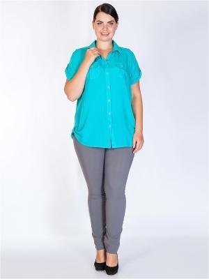 Блузка HELLO MODA!. Цвет: бирюзовый