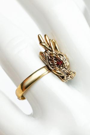 Кольцо Дракон ZAXA HADID. Цвет: бронзовый