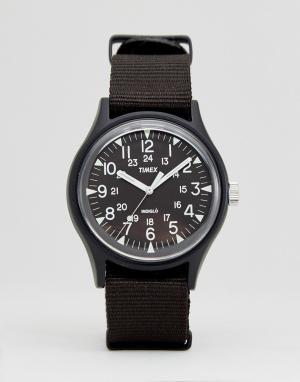 Timex Черные часы из алюминия с нейлоновым ремешком MK1. Цвет: черный