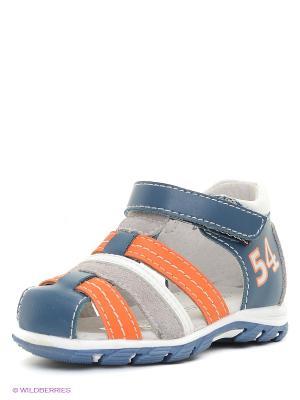 Сандалии Indigo kids. Цвет: оранжевый, синий, серый