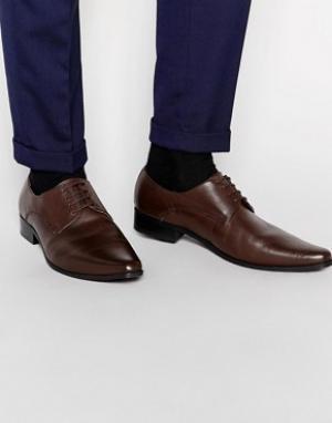 Frank Wright Кожаные туфли дерби. Цвет: коричневый