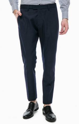 Зауженные брюки синего цвета Antony Morato. Цвет: синий