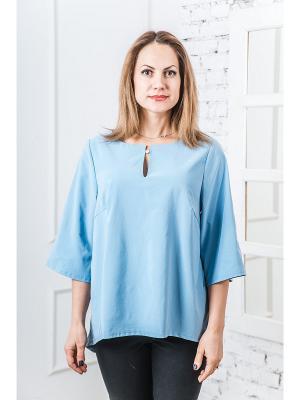 Блузка Val'Za. Цвет: голубой