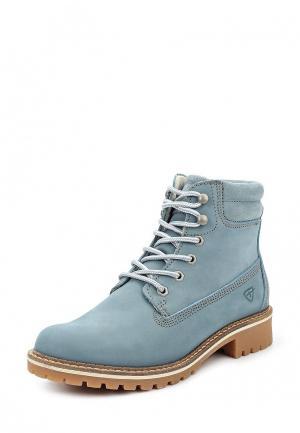 Ботинки Tamaris. Цвет: голубой