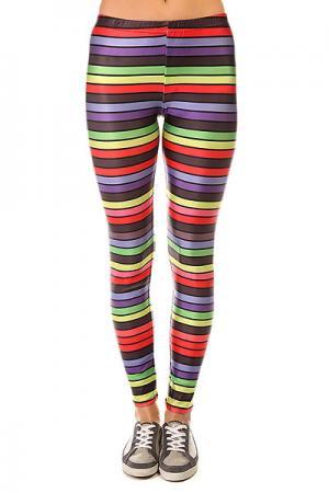 Леггинсы женские  Stripes Multi Look. Цвет: мультиколор