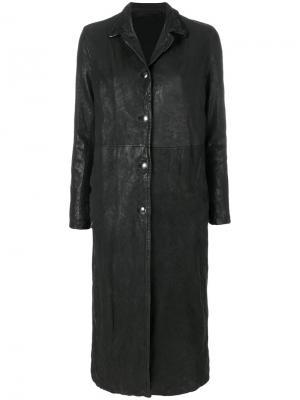 Crinkle effect coat Salvatore Santoro. Цвет: чёрный