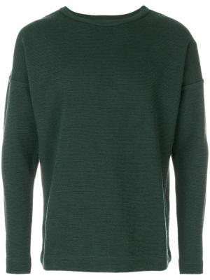 Пуловер с круглым вырезом Origo S.N.S. Herning. Цвет: зелёный