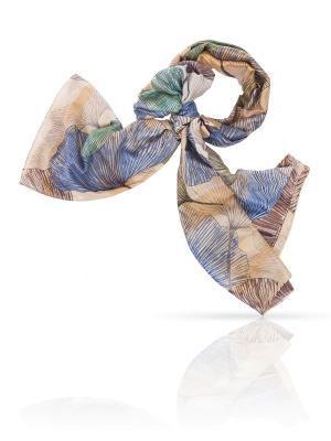 Палантин MICHEL KATANA`. Цвет: синий, бирюзовый, коричневый