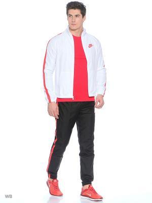 Спортивный костюм M NSW TRK SUIT WVN SEASON Nike. Цвет: белый, черный, красный