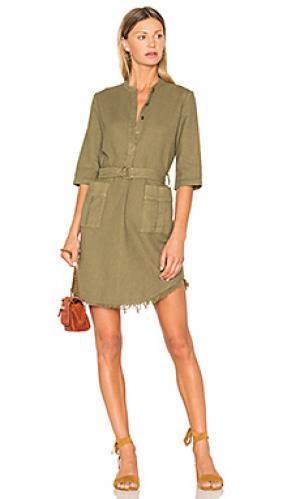 Платье карго на пуговицах henley Raquel Allegra. Цвет: военный стиль