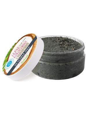 Кокосовый скраб для лица Целебная грязь проблемной кожи 200 гр Мануфактура Дом Природы. Цвет: черный