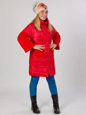 Стеганое пальто MARIELA. Цвет: красный