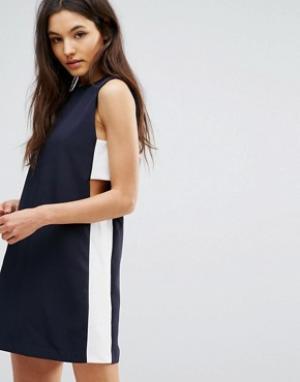 Hedonia Платье-туника со вставками по бокам. Цвет: темно-синий