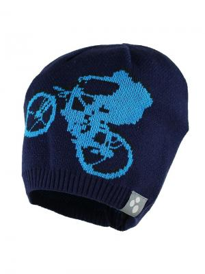 Вязаная детская шапка PAUL HUPPA. Цвет: темно-синий