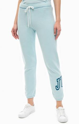 Спортивные брюки джоггеры голубого цвета Juicy by Couture. Цвет: голубой