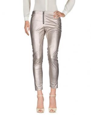 Повседневные брюки DORALICE. Цвет: платиновый