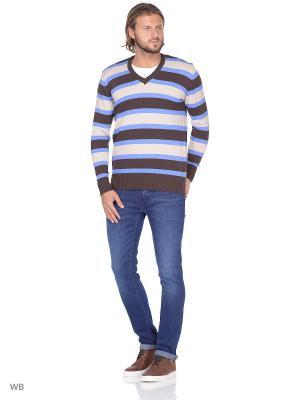 Пуловер Dorothy's Home. Цвет: бежевый, голубой, коричневый
